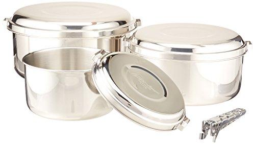 MSR (Mountain Safety Research) Kochgeschirr Alpine 4 Pot Set, Silver, One size, 21721