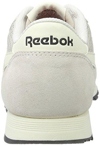 Reebok - Classic Nylon, Scarpe basse Donna Beige (Lilac Ash/classic White/lead/primal Red)