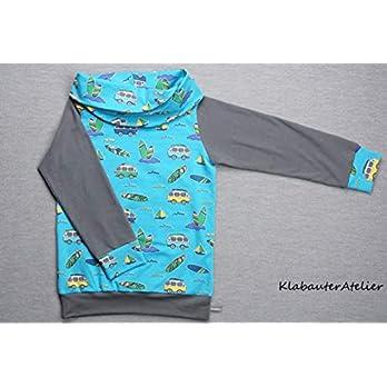 Hoodie Pullover Wickelkragen Jersey Handmade Jungen
