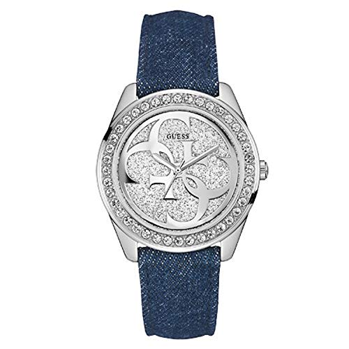 Guess orologio analogico quarzo donna con cinturino in pelle w0627l1