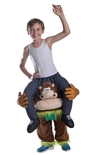 kepack Kostüm Affe für KINDER Straßenkarneval Monkey Gorilla (Gorilla Huckepack Kostüm)