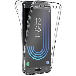 Buyus Coque Gel Samsung Galaxy J5 2017 Coque 360 Degres Protection Integral Anti Choc, Etui Ultra Mince Transparent Invisible pour Samsung Galaxy J5 Edition 2017, Coque Galaxy J5 (2017) J530