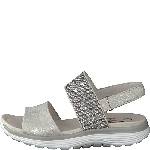 Gabor Sisco Damen Casual Sandalen 5 UK/ 38 EU Silver Metallic -