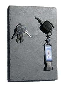 Tavola magnetica per chiavi in ardesia 30 x 20 cm - Ardesia per cucinare ...