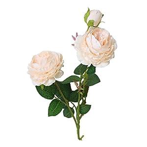 Vintage Ramo de Flores de peonia Rosa de STRIR, Artificiales, para Boda decoración para el hogar (A)