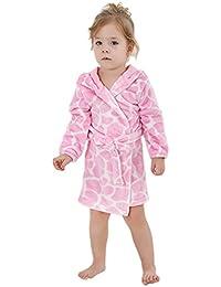 DINGANG® Ultra-Soft Baby Boy & Girl flanelle Infant animal capuche Plage Serviette de bain Peignoir Violet, 2-6 Ans