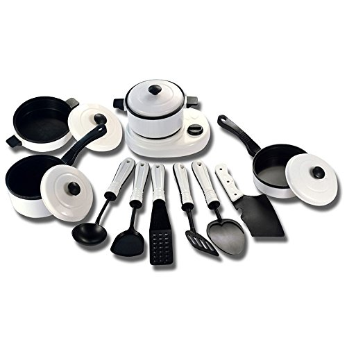 9/11/12/13PC Childrens' Pretend Toys, GreatestAPK 1 Set Educational Kitchen House Pots Pans Cookware Miniature White Toy Gift For Kid Pretend Play (11pcs)