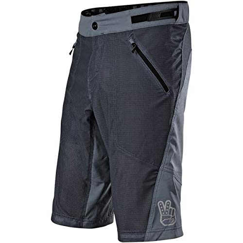 Troy Lee Designs Skyline Air Shell Solid Herren Off-Road BMX Fahrradshorts, Herren, Solid Charcoal, 38 -