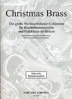 CHRISTMAS BRASS - arrangiert für TUBA in ES - (Baritonsaxophon) [Noten / Sheetmusic]
