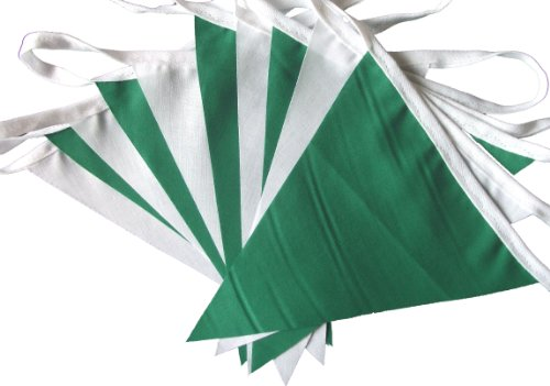 9mtrs-30-flags-emerald-green-and-white-fabric-bunting-banner-garland