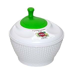 Tick Asciuga insalata DRI con rotante verde in polipropilene - Compatta ed efficiente - Disegno Ergonomico per una rotazione sicura ed efficace