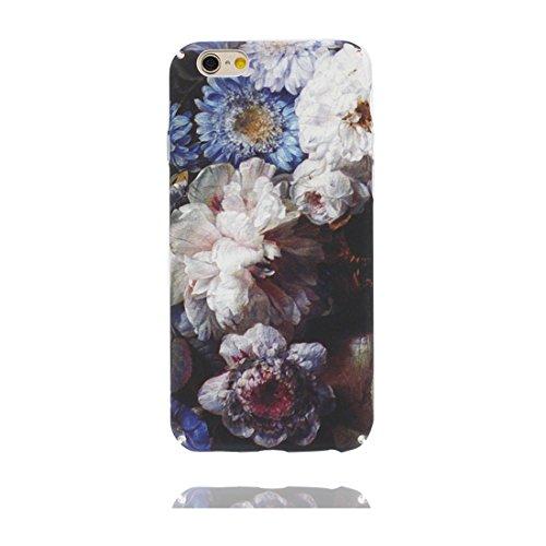 iPhone 7 Plus Custodia, Copertura iPhone 7 Plus 5.5, | Peso leggero ultra sottile Silicone Gel Soft Gel | Cartoon Fashion iPhone 7 Plus Case - bianca Flower Fiore, Antigraffio e ring supporto Color 5