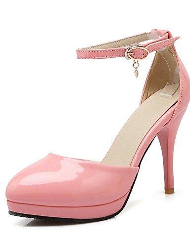 WSS 2016 Chaussures Femme-Mariage / Habillé / Décontracté / Soirée & Evénement-Noir / Rose / Rouge / Beige-Talon Aiguille-Talons-Talons-Cuir Verni black-us5.5 / eu36 / uk3.5 / cn35