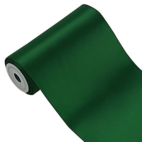 LaRibbons 4.5m x 100mm Breite Solid Color Double Face Satin-Band ( Grün (Tessuto Raso Verde)