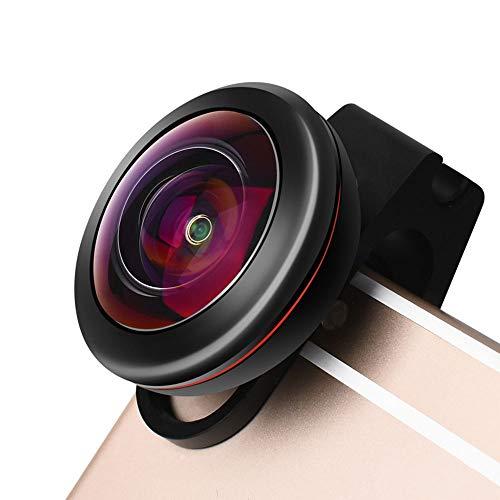 JZWDMD Handy Objektiv Set,Universal HD Handy Kamera Lens Kit mit 238°Fisheye Objektiv Linse Professione Clip-on Kamera Adapter für iPhone Samsung Huawei HTC etc