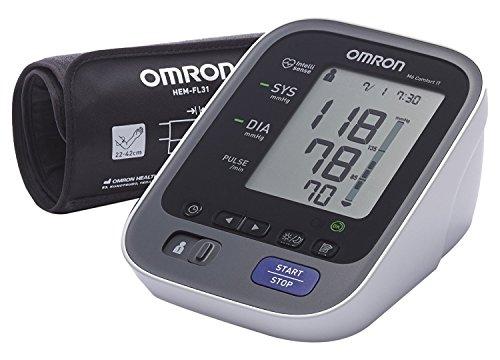 OMRON M6 Comfort IT - Medidor de presión de brazo, tecnología Intelli Wrap Cuff, conexión de PC, software Bi-LINK para acceso en línea a sus mediciones