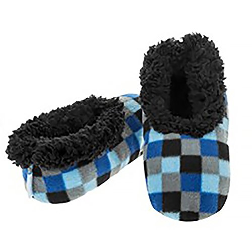 Boys Childrens Snoozies Assorted Designs Small Medium Large Novelty Slippers Checkerboard 1/2 UK