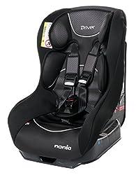Nania 101-113-143 Kindersitz Autositz Safety Plus NT Graphic, ECE Gruppe 0/1 für Kinder von 0 bis 18 kg, schwarz