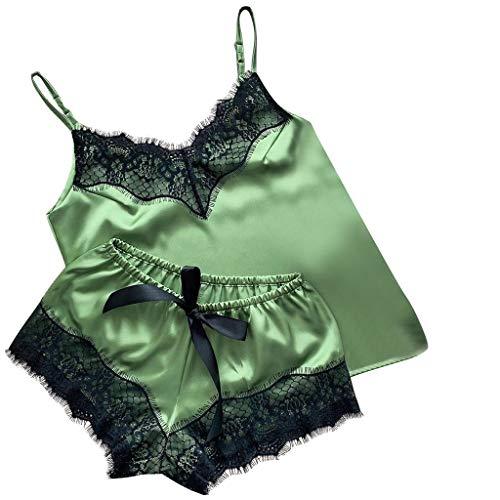 Roroyi Damen Dessous Set, Spitze Sexy Minirock Ouvert mit Babydoll Nachtwäsche Schulmädchen Kostüm Kleid Reizwäsche mit Rock und unterwäsche