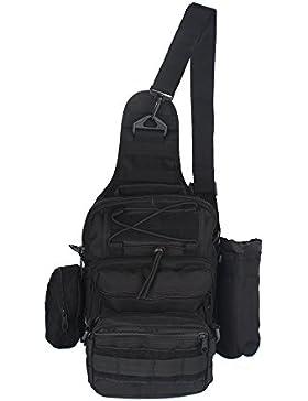 innturt Tactical MOLLE Sling Bag Schulter Messenger Rucksack Multifunktions-Trekking Camping Tasche