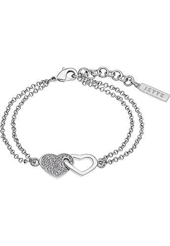 JETTE Silver Damen-Armband 925er Silber rhodiniert 33 Zirkonia One Size, silber
