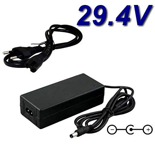 TOP CHARGEUR * Netzteil Netzadapter Ladekabel Ladegerät 29.4V 2A 2000mA für Akku-Ladegerät für Elektrofahrrad E-Bike 7 Series Li ION Akku Lithium CE Zertifizierung Stecker: 5.5mm * 2.5mm
