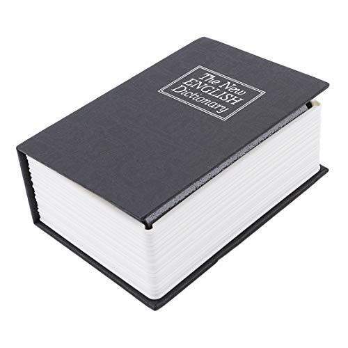 VWH Mini Safe Buch Geldversteckte Bank Geldmünze Aufbewahrungsbox(schwarz) -