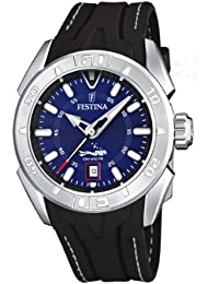 Festina Sport F16505/8 Mens Quartz Analogue Watch, Black Rubber Strap