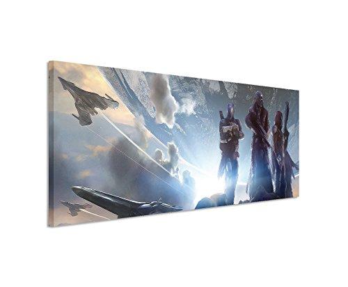 Stampata Destiny _ 2-Game _ 150x 50cm Panorama _ Telaio di alta qualità con vera tela come quadro su telaio da parete