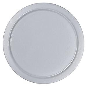 DaloLindén 502 Schneidbrett mit Saftrille, Kunststoff, rund, Ø 25 cm, weiß (4 Stück)