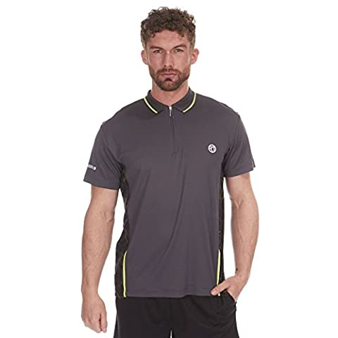 Red Tag Active Mens Quick Dry Polo T-Shirt for Various Indoor and Outdoor Activities Grey Large