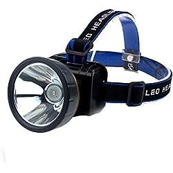 CCDZ Lampe Frontale, Lampe Frontale Avec Phare Étanche, Rechargeable, Convient À La Chasse, Pêche De Nuit, Lumière De Poissons, Réflecteur