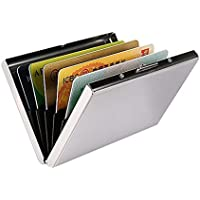 Portatarjetas De Crédito RFID Para Mujeres U Hombres, Carteras Delgadas De Tarjetas De Crédito Con Bloqueo RFID, Protector De Tarjeta De Crédito De Acero Inoxidable Para Guardar Tarjetas De Débito