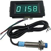 digiten DC12 V 4 Digital LED verde medidor de contador Plus Minus + interruptor de proximidad