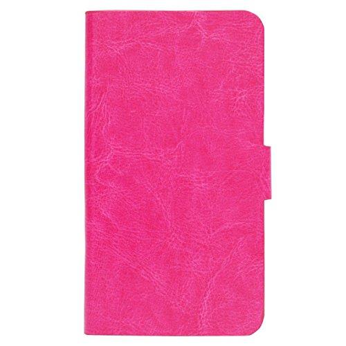 Guran® PU Leder Tasche Etui für UMI Fair Smartphone (Keine Innenschale) Flip Cover Stand Hülle Case-rot