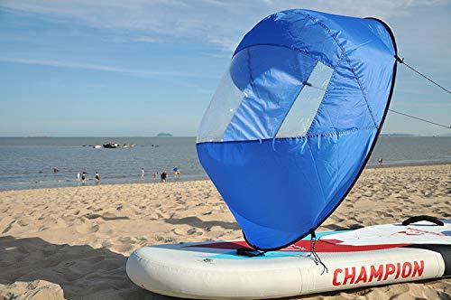 """SHIJING 46\""""tamaño Grande Kayak Viento a Favor del Viento Vela Paleta Inflable Canoa Barcos Deriva Viento Vela con Ventana Clara Kayak Barco Accesorios,1"""