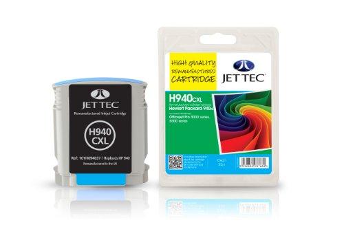 Preisvergleich Produktbild Jet Tec C4907AE HP HP940XL/C4907AE In England hergestellte Wiederaufbereitete Tintenpatrone, cyan High capacity
