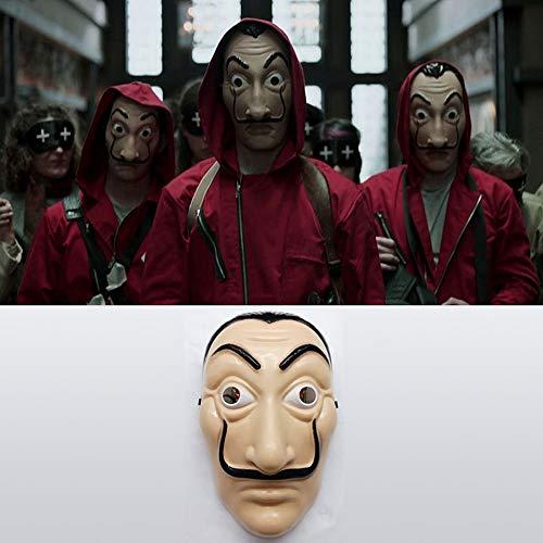 XD7 Dali Maske Salvador Dali Maske Mask Haus des Geldes Maske ideal für Casa de Papel, Dali Maske