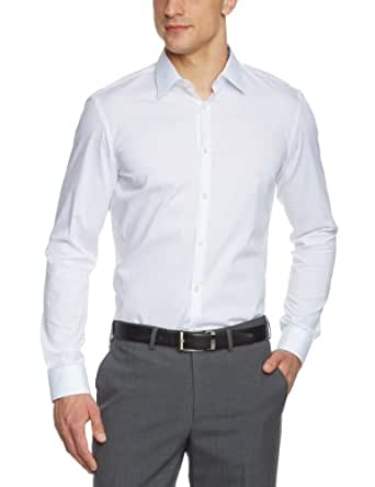 Arrow Herren Businesshemd Slim Fit 010041/01 Fifth Avenue NOS Kent modern 1/1 W98, Gr. 39, Weiß (01)