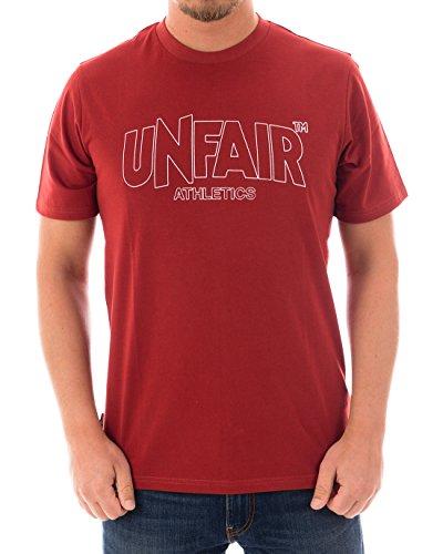 Unfair Athletics Classic Label Outline T-Shirt Herren rot, M