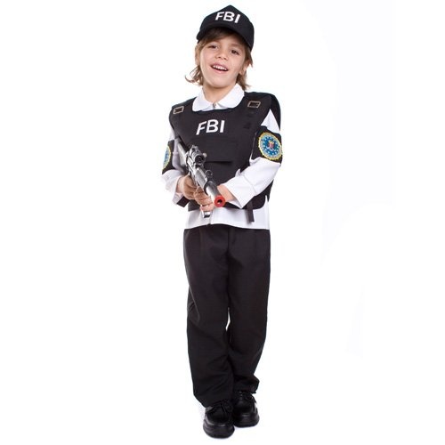 Dress Up America 482-M - FBI Agent Kostüm, 8-10 Jahre, Taille 79 cm, Größe 123 cm, (Dress Kostüme Up)