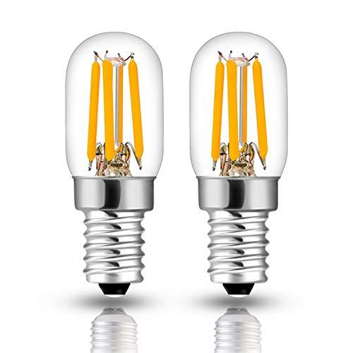 Hizashi 2.5W SES LED filament pygmée Ampoule, 2.5W remplace 15-25W hotte de cuisinière LED Blanc Chaud, E14 (petite Edison vis SES), Non Dimmable, lot de 2