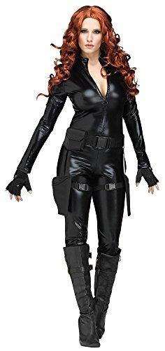 agentin Secret Agent Spezialeinheit FBI schwarzer Overall, Größe:S (Halloween-kostüm Fbi-agent)