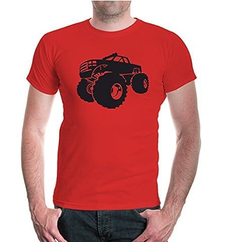 T-Shirt Monster Truck-XXXL-Red-Black