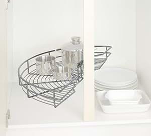 Wenko 5950100 Circle Midi Étagère Rondell pour Ustensiles de Cuisine Chrome Dimensions 71,5 x 38 x 12 cm