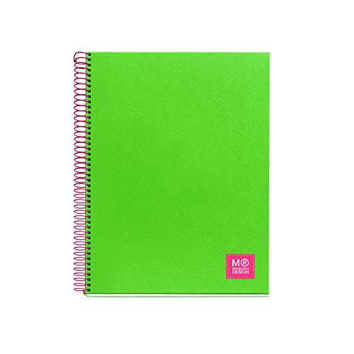 miquelrius-2732-carnet-brillant-a4-80-feuilles-quadrille-80-g-vert