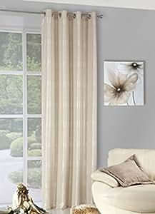 140x245 cm beige hellcappucino ecru Elfenbein hellaltgold transparent Vorhang Vorhänge Fensterdekoration Gardine Ösenschal light old gold ANDREA