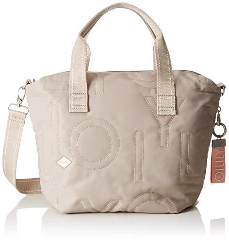 Oilily Damen Spell Handbag Mhz Henkeltasche, Grau (Light Grey), 15.0x23.0x37.0 cm