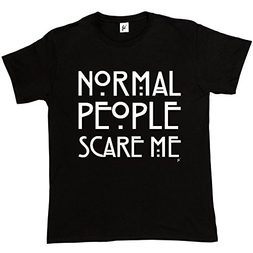 Normal People Scare Me American Horror Story da uomo in cotone T-Shirt Black X-Large