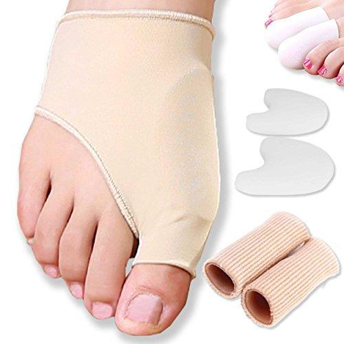 DR JK- Gel Pad Bunion Sleeves & Bunion Protector Kit-8 Pcs Bunion Corrector, Toe Caps, Big Toe Protectors, Toe Spacers, Gel Toe Protectors, Bunion Pads, Bunion Relief, Hallux Valgus, Toe Straighteners
